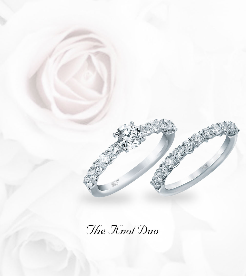 The Knot Duo Wedding Ring & Band